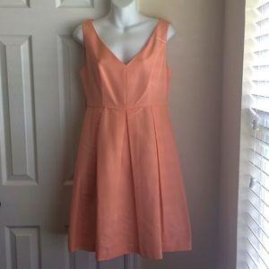 J Crew apricot Kami classic faille Dress